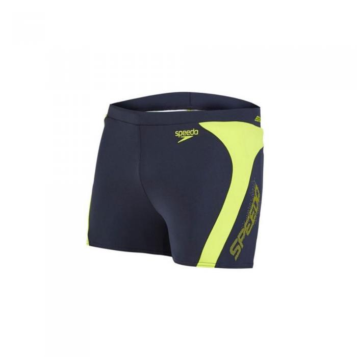 Boxeri barbati Speedo Logo Splice verde/gri-big