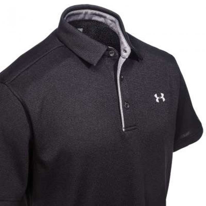Tricou polo barbati Under Armour Tech Polo negru-big